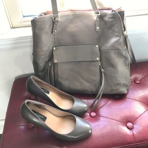 Taupe Ann Taylor Pumps & Kooba Purse Bundle